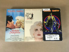 Madonna Movies VHS lot 3 Tapes,