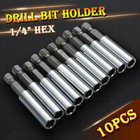 10 Pc Socket Drill Bit Holders Hex Shank Magnetic Extension For Screwdriver