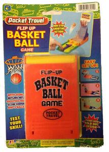 JA-RU - Pocket Travel Flip Up Basketball Game Compact Fold-Out Design - 1 Game