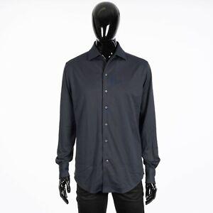 LORO PIANA 835$ Capri Shirt In Dark Gray Cotton Jersey