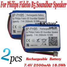 2pcs/Lots 7.4V 2500mAh 18.5Wh Battery For Philips Fidelio B5 Soundbar Speaker
