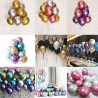 "10pc 10"" Chrome Balloons Bouquet Birthday Party Decor Metallic Wedding Shiny DIY"