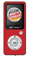 BERTRONIC Made in Germany BC04 MP3-Player - Rot - 100h - mit Schrittzähler FM