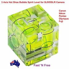 Triple 3D Three 3 Axis Hot Shoe Spirit Level Bubble Level For SLR DSLR Camera AU