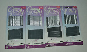NEW Lot Of 4 Goody Stay Tight Slide Proof Bobbies Silver Bobby Pins Hair Access