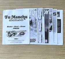 Fu Manchu Hot Rod Skateboard Surf Skate Snow Press Kit Interviews Dogtown Alva