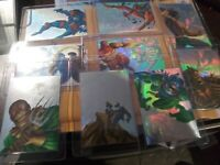 1995 MARVEL FLAIR ANNUAL HOLOBLAST 9 CARDS OUT 12 CARD FOR SET INSERT  HOLOGRAM!