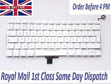 "Apple Macbook Unibody a1342 TASTIERA 13"" UK Layout pulsante di alimentazione senza retroilluminato"