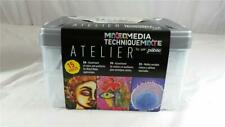 NEW Pebeo Atelier Mixed Media 15 Pieces Art Kit Colors & Auxiliaries