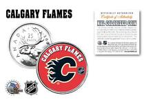 CALGARY FLAMES NHL Legal Tender Canada Quarter Coin