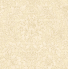 Painted Flowers Honeyed Gold Cream Nude Double Roll Wallpaper