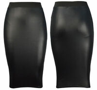 New Womens Look PVC Sexy Bodycon Dress Mini Skirt Top Leggings Plus Size Wet All