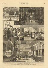 Liverpool, England, American Meat Supply, Vintage, 1877 Antique Art, Print, Rare