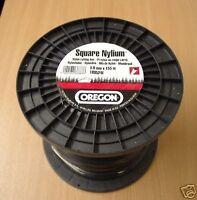 GENUINE OREGON SQUARE NYLIUM 3mm x 155metres nylon strimmer trimmer line NEW