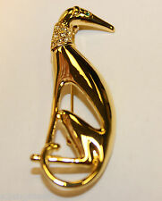 1930 VINTAGE STYLE GREYHOUND DOG BROOCH GIFT BOXED
