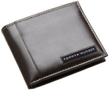 Tommy Hilfiger Mens Brown Leather Cambridge Passcase Wallet in Gift Box