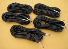 "5 x 10FT Mono 6.3mm 1/4"" Male Guitar Amplifier Mic Audio PA Headphone Cord Cable"