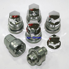5 Locking Wheel Nuts to fit Lexus IS200 GS300 LS400 LS430 - Boxed - Chrome Caps