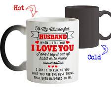 Coffee Mug Birthday Love Gift for Husband To my Wonderful Husband Tee Cup Gifts