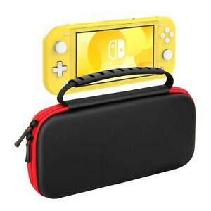 Nintendo Switch LITE Black Slim EVA Hard Travel Case Cover With 8 Game Storage