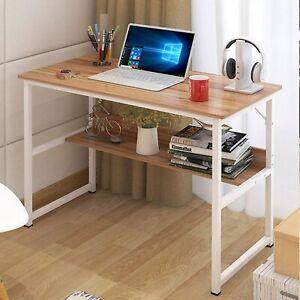 Computer PC Desk Home Office Writing Table Workstation Wood Furniture Bookshelf