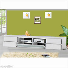 TV Entertainment Unit 2.4 M Low Line Solid White Colour