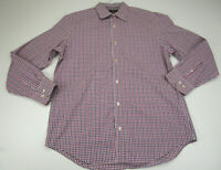 Banana Republic Button Up Shirt Adult Large Pink Purple Striped Long Sleeve Mens