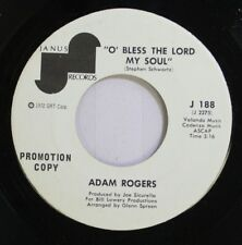 Black Gospel Soul Promo 45 Adam Rogers - O' Bless The Lord My Soul / Gabriel On