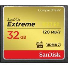 SanDisk Memory CF 32GB Card 120MB/S 800X UDMA7 Extreme SDCFXS-032G CompactFlash