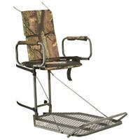 Deluxe Hang-On Tree Stand Big Game Deer Bow Hunting Comfort Seat Steel Treestand