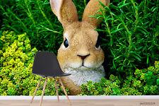 New Listing3D Rabbit Green Plant Wallpaper Wall Murals Removable Wallpaper 291