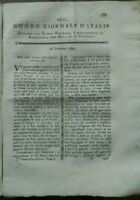 1789 RIVISTA NUOVO GIORNALE D'ITALIA: RADICCHIO TREVIGIANO; FULMINE A UDINE; ...