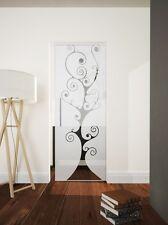"Glass Single sliding Pocket Door System  full set  design ""TREE""  740 mm"