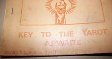 A.E.Waite - Key to the Tarot - Unicorn RARE Ltd Edn Chapbook Only 100 printed)