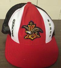 Vintage Anheuser Busch Budweiser Hat Cap Red White Blue Men's Adjustable AJD