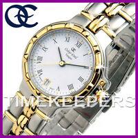 Ladies Oskar Emil Tangier 400L 23k Gold Steel Swiss Dress White Dial Watch £175