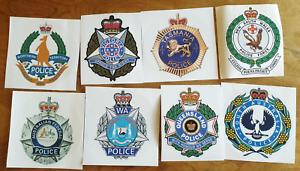 Australian Police Sticker Set Victorian NSW NT South Northern Queensland WA Flag