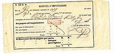U816-LOMB.VENETO-RICEVUTA D'IMPOSTAZIONE MANTOVA 1866