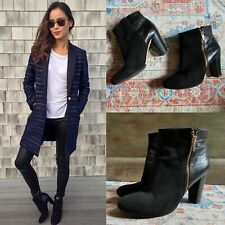 JAMIE CHUNG ANN TAYLOR BLACK GENUINE LEATHER ANKLE SUEDE BOOTS BOOTIES 8