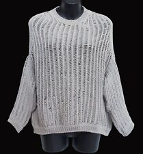 RICK OWENS Crater Sweater S/S 16 Cyclops Pearl Size M
