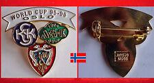 EISSCHNELLLAUF SPEEDSKATING ABZEICHEN BADGE ISU WORLD CUP OSLO 1995 - 96