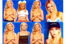 Sarah Michelle Gellar - Topless But Arms Covering - Snl 5-15-99