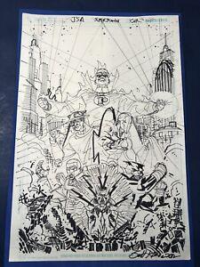 Scott Kolins Signed Drawing Art JSA Supertown Cover 2012
