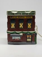 Vintage DOLLAR GENERAL STORE Ceramic Lighted Building Christmas 🇺🇸 RETAILER