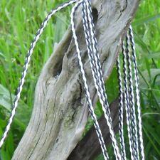 Cordon rond tressé simili cuir 5 Mètres Blanc et noir Diamètre 3,4 mm +/-