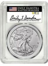 2021 Silver Eagle Type 2 PCGS MS70 First Strike - Emily Damstra Signed