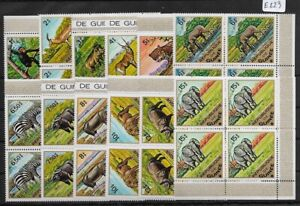 SMT, GUINEA: Mi nr 717/ 728 A, African animals set in block of 4, MNH