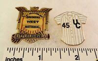 2 Little League Baseball PINs - CA D45 - Hayward West National