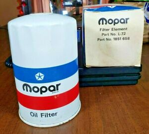 NOS MOPAR Embossed M Logo Oil Filter 1851658 L-72 Dealer Correct, Dodge Plymouth