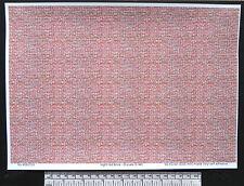 O gauge (1:48 scale) light red brick -  self adhesive vinyl - A4